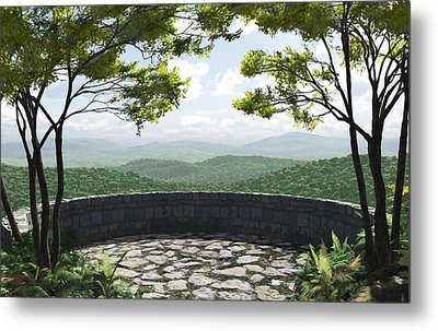 Blue Ridge Metal Print by Cynthia Decker