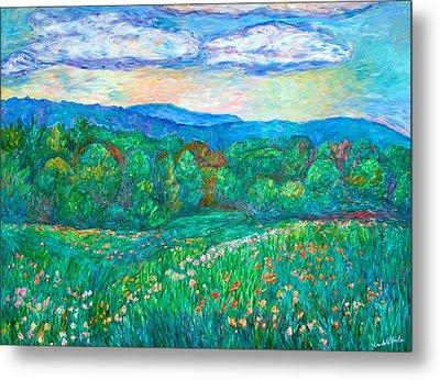 Blue Ridge Meadow Metal Print by Kendall Kessler