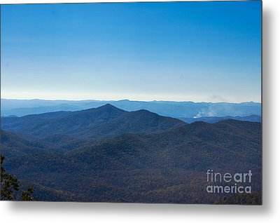 Metal Print featuring the painting Blue Ridge Mountains by Debra Crank