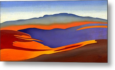 Blue Ridge Mountains East Fall Art Abstract Metal Print