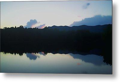Blue Ridge Mountains Reflected In A Lake Metal Print by Kelly Hazel