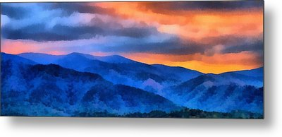Blue Ridge Mountains Sunrise Metal Print
