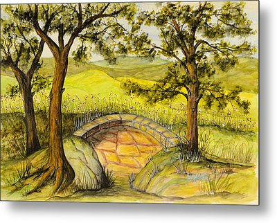 Blue Ridge Overlook Metal Print by Barbara Oberholtzer