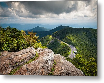Blue Ridge Parkway - Asheville Nc Craggy Gardens Overlook Metal Print