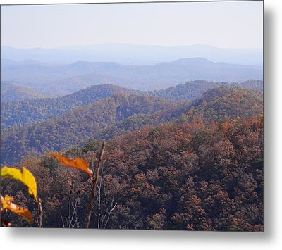 Blue Ridge Parkway Horizon Metal Print by Angelia Hodges Clay