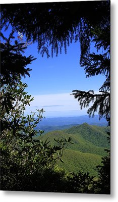 Blue Ridge Parkway Norh Carolina Metal Print by Mountains to the Sea Photo