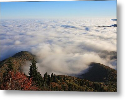 Blue Ridge Parkway Sea Of Clouds Near Graveyard Fields Metal Print by Mountains to the Sea Photo