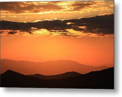 Blue Ridge Parkway Sunset-north Carolina Metal Print by Mountains to the Sea Photo