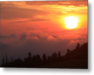 Blue Ridge Sunrise Great Balsam Mountains Metal Print by Mountains to the Sea Photo
