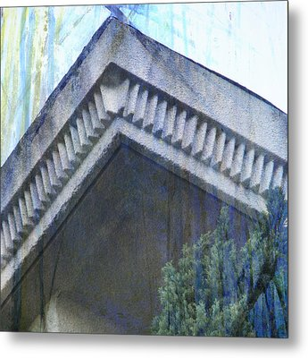 Metal Print featuring the photograph Blue Rooftop by John Fish