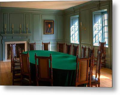 Metal Print featuring the photograph Blue Room 2 Wren Building by Jerry Gammon