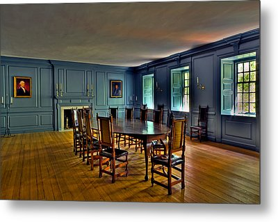 Metal Print featuring the photograph Blue Room Wren Building by Jerry Gammon