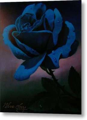 Blue Rose Metal Print by Blue Sky