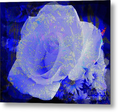 Metal Print featuring the photograph Blue Rose by Kathie Chicoine