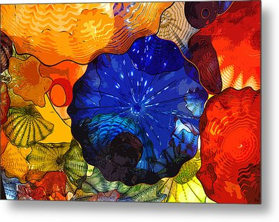 Metal Print featuring the digital art Blue Rose by Kirt Tisdale