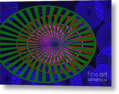Blue Rounds And Spirals Metal Print