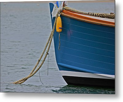 Metal Print featuring the photograph Blue Sailboat by Amazing Jules