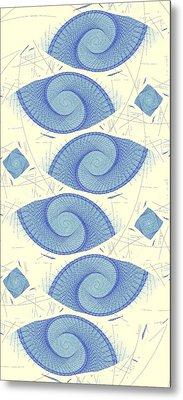 Blue Shells Metal Print by Anastasiya Malakhova