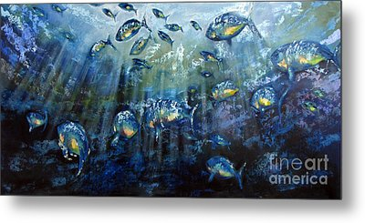 Blue Shoal Metal Print by Dave Hancock