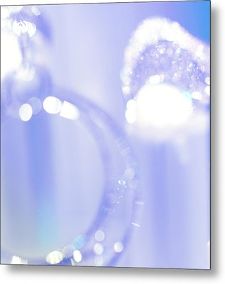 Blue Silver Fantasy Metal Print by Jenny Rainbow