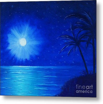 Blue Sky At Night Metal Print