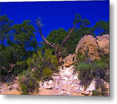 Blue Sky Over The Canyon Metal Print by Dany Lison