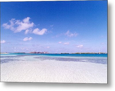 Blue Sky Over White Sandy Beach Metal Print by Celso Diniz
