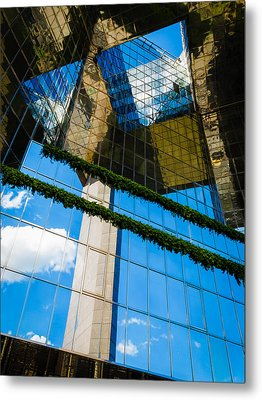 Metal Print featuring the photograph Blue Sky Reflections On A London Skyscraper by Peta Thames