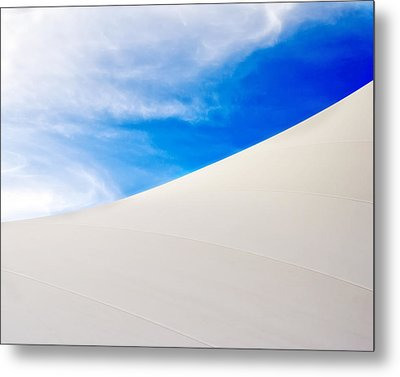 Blue Sky White Canvas Metal Print by Kevin Anderson