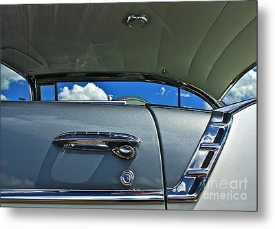 Metal Print featuring the photograph 1956 Chevy Bel Air by Linda Bianic
