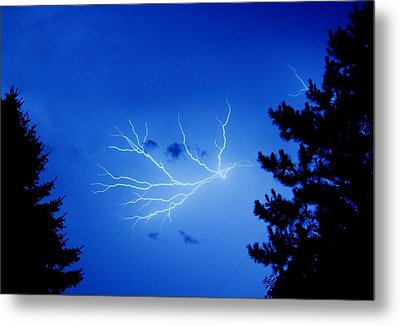 Blue Skylight Metal Print by Diane Reed