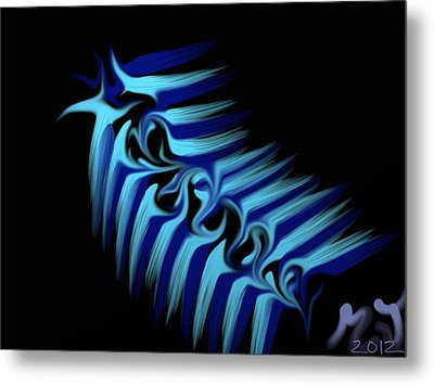 Blue Slug Metal Print by Michael Jordan