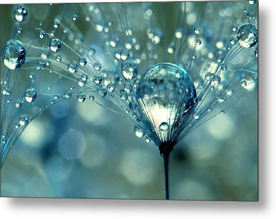 Blue Sparkles Metal Print by Sharon Johnstone