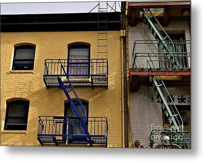 Metal Print featuring the photograph Blue Stairs Green Stairs  by Sherry Davis