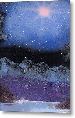 Blue Stars Night Metal Print