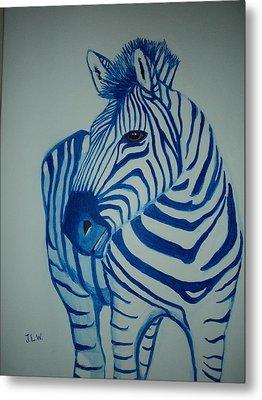 Blue Stripes Metal Print by Justin Lee Williams