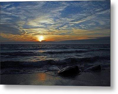 Metal Print featuring the photograph Blue Sunset by Dan Myers