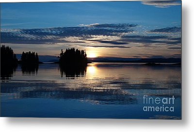 Blue Sunset Metal Print
