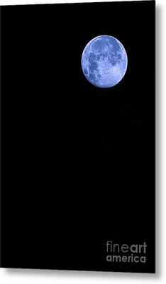 Blue Supermoon Metal Print by Trish Mistric