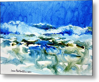 Blue Surf Metal Print
