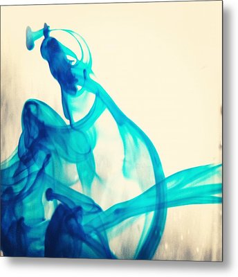 Blue Swirl Metal Print by Christy Beckwith