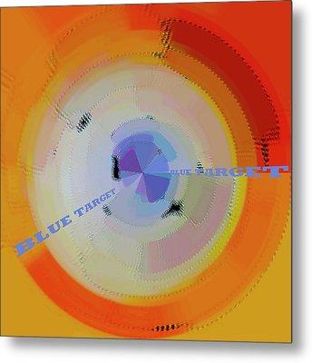 Blue Target Metal Print by Ben and Raisa Gertsberg