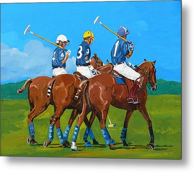 Blue Team Metal Print by Janina  Suuronen