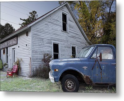 Blue Truck Metal Print by Jim Baker