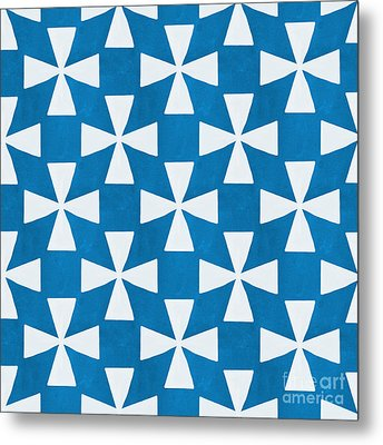 Blue Twirl Metal Print by Linda Woods
