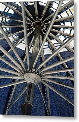 Blue Umbrella Underpinnings Metal Print
