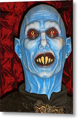 Metal Print featuring the photograph Blue Vampire by Joan Reese