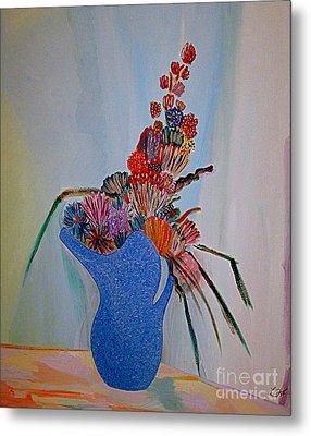 Blue Vase 22 Metal Print