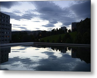 Metal Print featuring the photograph Blue Visions 1 by Teo SITCHET-KANDA