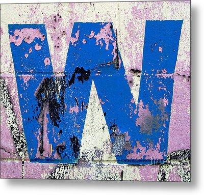 Blue W Metal Print by Ethna Gillespie